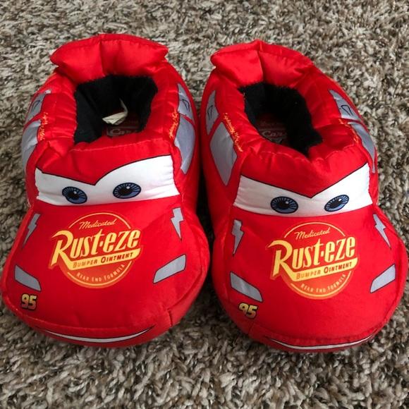 Kids Lightning Mcqueen Slippers Size